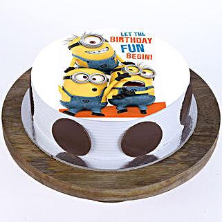 Funny Minions Cake: Red Velvet Cakes Faridabad