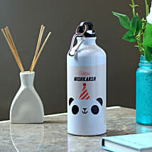 Funny Panda Personalised Steel Bottle: Personalised Gifts for Friend