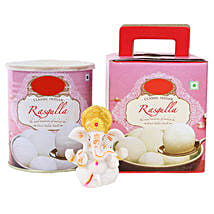 Ganesha Idol and Rasgullas: Send Handicraft Gifts for Her