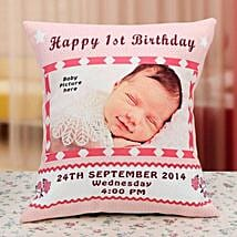 Gift for the Angel Personalized Cushion: Send Birthday Cushions