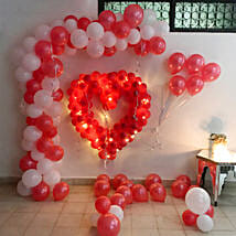 Glowing Red & White Balloon Decor: