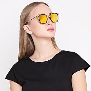 Gold Wayfarer Unisex Sunglasses: Sunglasses for Women