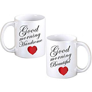 Good Morning Couple Mugs: Personalised Mugs