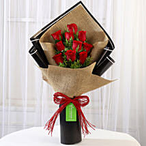 Graceful 10 Red Roses Bouquet: Roses for anniversary