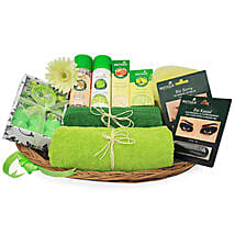 Green Spa Hamper: Send Cosmetics & Spa Hampers for Anniversary