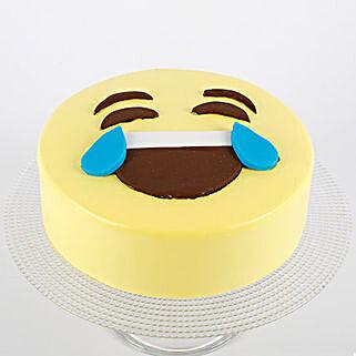 HaHa Emoji Semi Fondant Cake: