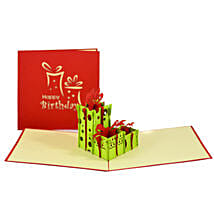 Handmade 3D Pop Up Gift Boxes Card: Funny Gifts