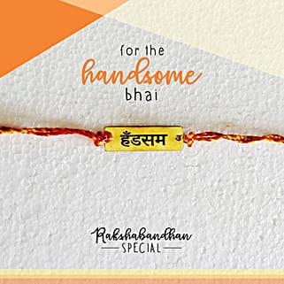 Handsome Bro Quirky Rakhi & Card: Send Rakhi to Firozpur