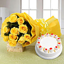 Happiness Hamper: Flowers & Cakes Ludhiana