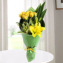 Yellow Roses & Asiatic Lilies Bouquet: Lilies