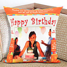 Happy Bday Personalized Cushion: Send Gifts to Moga