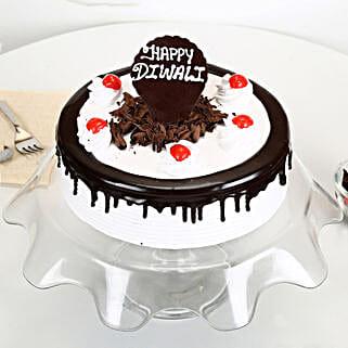Happy Diwali Black Forest Cake: Send Diwali Cakes