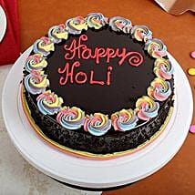 Happy Holi Chocolate Cake: Holi Special Cakes
