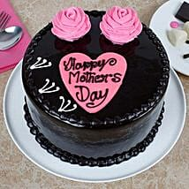 Happy Mothers Day Chocolate Cake: Eggless Cakes for Mother's Day