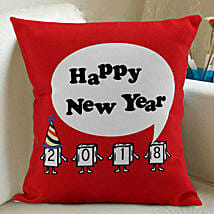 Happy New Year Cushion: New Year Gifts for Girlfriend
