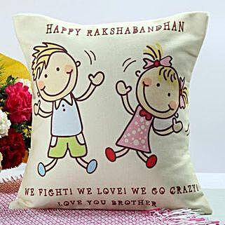 Happy Rakhi Cushion: Cushions