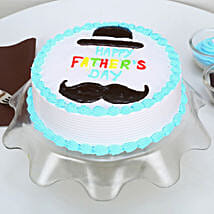 Hat And Moustache Fathers Day Cake: Eggless Cakes for Fathers Day