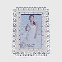 Heart Adorned Photo Frame: Personalised Photo Frames