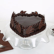 Heart Shape Truffle Cake: Eggless Cakes for Anniversary