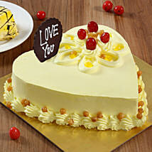 Heart Shaped Butterscotch Cake: Cakes to Jorhat