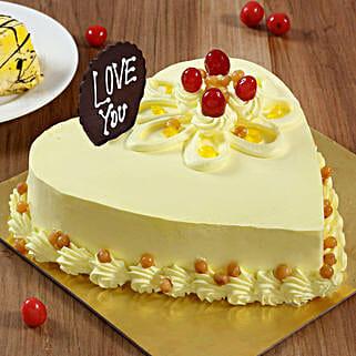 Heart Shaped Butterscotch Cake: Cakes to Jhunjhunu