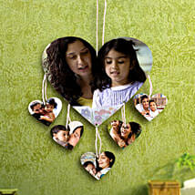 Heartshaped Personalized Wall Hanging: Send Personalised Gifts to Delhi