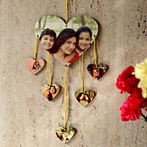 Heartshaped Personalized Wall Hanging: Send Personalised Gifts to Varanasi