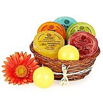 Heavenly Relaxing Soap Hamper: Send Valentines Day Gift Baskets