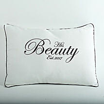 His Beauty Personalized Cushion: Send Gifts to Manipal