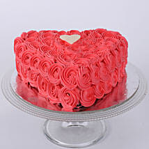 Hot Red Valentine Heart Cake: Send Valentines Day Designer Cakes