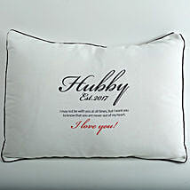 Hubby Love Personalized Cushion: Send Birthday Gifts to Thane