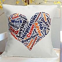 I Heart Dad Cushion: Cushions for Fathers Day