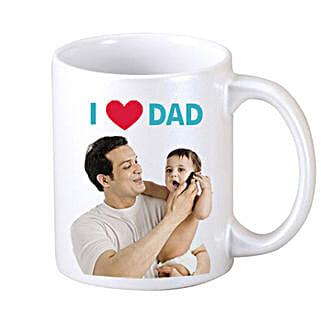 I Love Dad Personalized Coffee Mug: Send Personalised Mugs to Noida