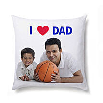 I Love Dad Personalized Cushion: Personalised Cushions for Fathers Day