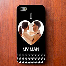 I Love My Man Personalized iPhone Cover: