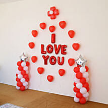 I Love You Balloon Decor: