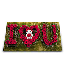 I Love You: Flowers & Teddy Bears