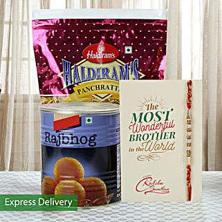 Imperial Rakhi Hamper: Send Rakhi With Sweets to Delhi