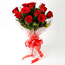 Impressive Charm- Bouquet of 10 Red Roses: Gifts to Akola