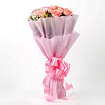 Impressive Pink Roses Bouquet: Mothers Day Gifts to Mumbai
