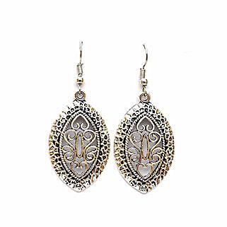 Intricate Oval Filigree Earrings: Earrings For Women