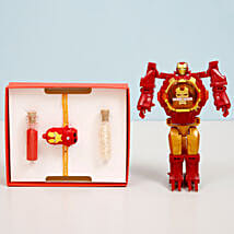 Iron Man Transformer Watch & Rakhi Combo: Rakhi Gifts to Thrissur