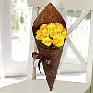 Joyful Yellow Roses Bunch: Friendship Day Gifts
