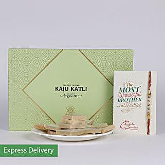 Kaju Katli Hamper N Rakhi: Rakhi With Sweets Roorkee