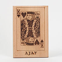 King of Hearts Wooden Plaque: Personalised Gifts for Men