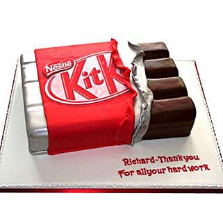 Kit Kat Shaped Cake: Send Bhai Dooj Gifts to Faridabad