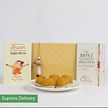 Laddoo Special Family Rakhi Combo: Send Set of 2 Rakhi