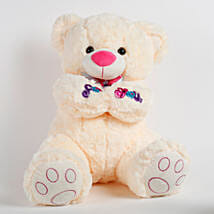 Large Teddy Bear For You Cream: Valentines Day Soft toys