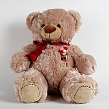 Large Teddy Bear With Love Flower Light Brown: Gifts for Teddy Day