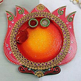 Lotus Pooja Thali: Bhai Dooj Gifts Faridabad